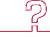 point interrogation rouge la partie point commence comme une ligne qui se soulève au niveau du point d'interrogation pour former un carré qui figure le point